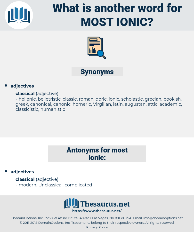 most ionic, synonym most ionic, another word for most ionic, words like most ionic, thesaurus most ionic