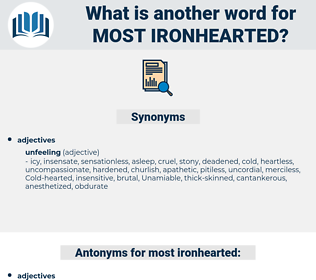most ironhearted, synonym most ironhearted, another word for most ironhearted, words like most ironhearted, thesaurus most ironhearted