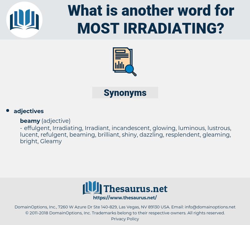 most irradiating, synonym most irradiating, another word for most irradiating, words like most irradiating, thesaurus most irradiating