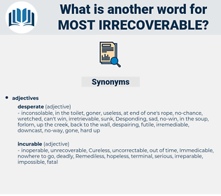 most irrecoverable, synonym most irrecoverable, another word for most irrecoverable, words like most irrecoverable, thesaurus most irrecoverable