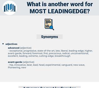 most leadingedge, synonym most leadingedge, another word for most leadingedge, words like most leadingedge, thesaurus most leadingedge
