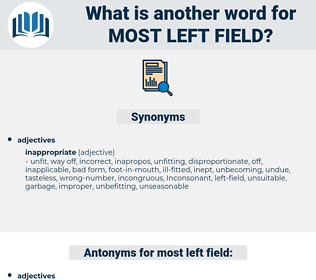 most left field, synonym most left field, another word for most left field, words like most left field, thesaurus most left field