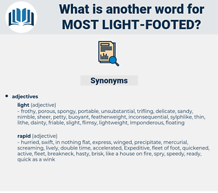 most light footed, synonym most light footed, another word for most light footed, words like most light footed, thesaurus most light footed