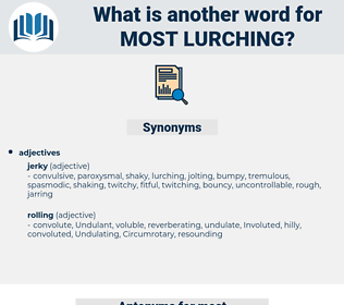 most lurching, synonym most lurching, another word for most lurching, words like most lurching, thesaurus most lurching
