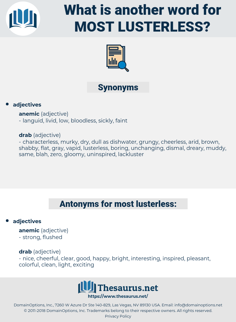 most lusterless, synonym most lusterless, another word for most lusterless, words like most lusterless, thesaurus most lusterless