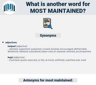most maintained, synonym most maintained, another word for most maintained, words like most maintained, thesaurus most maintained