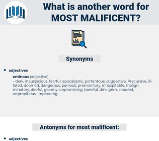 most malificent, synonym most malificent, another word for most malificent, words like most malificent, thesaurus most malificent