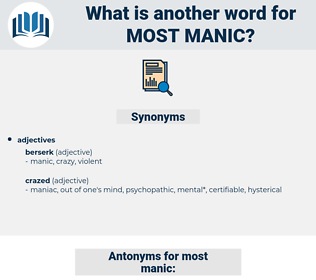 most manic, synonym most manic, another word for most manic, words like most manic, thesaurus most manic