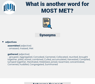 most met, synonym most met, another word for most met, words like most met, thesaurus most met