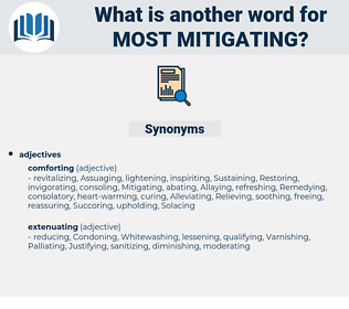 most mitigating, synonym most mitigating, another word for most mitigating, words like most mitigating, thesaurus most mitigating