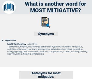 most mitigative, synonym most mitigative, another word for most mitigative, words like most mitigative, thesaurus most mitigative