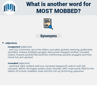 most mobbed, synonym most mobbed, another word for most mobbed, words like most mobbed, thesaurus most mobbed