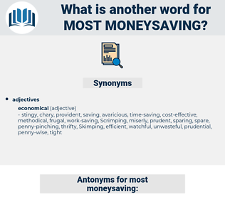 most moneysaving, synonym most moneysaving, another word for most moneysaving, words like most moneysaving, thesaurus most moneysaving