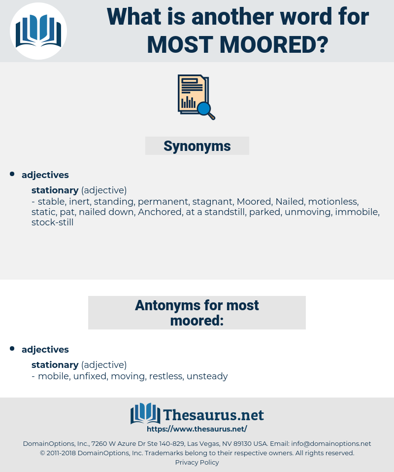 most moored, synonym most moored, another word for most moored, words like most moored, thesaurus most moored