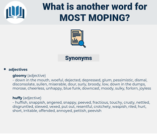 most moping, synonym most moping, another word for most moping, words like most moping, thesaurus most moping
