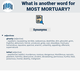 most mortuary, synonym most mortuary, another word for most mortuary, words like most mortuary, thesaurus most mortuary