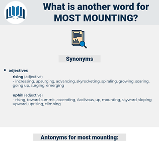 most mounting, synonym most mounting, another word for most mounting, words like most mounting, thesaurus most mounting
