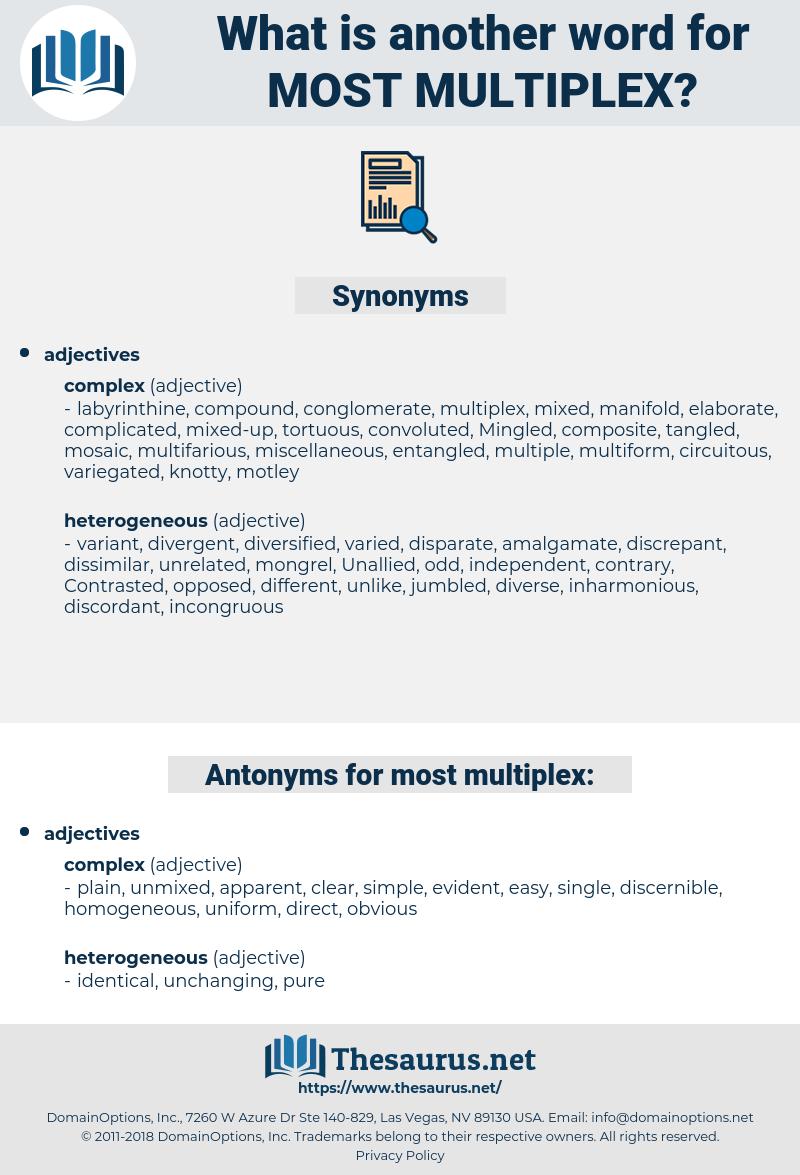 most multiplex, synonym most multiplex, another word for most multiplex, words like most multiplex, thesaurus most multiplex