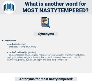 most nastytempered, synonym most nastytempered, another word for most nastytempered, words like most nastytempered, thesaurus most nastytempered