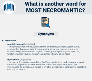 most necromantic, synonym most necromantic, another word for most necromantic, words like most necromantic, thesaurus most necromantic