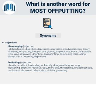 most offputting, synonym most offputting, another word for most offputting, words like most offputting, thesaurus most offputting