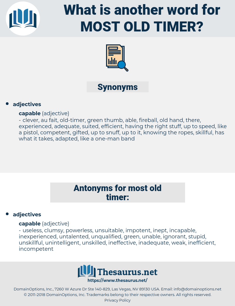 most old-timer, synonym most old-timer, another word for most old-timer, words like most old-timer, thesaurus most old-timer