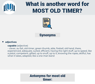 most old timer, synonym most old timer, another word for most old timer, words like most old timer, thesaurus most old timer