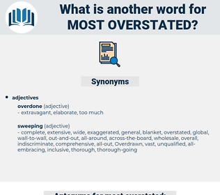 most overstated, synonym most overstated, another word for most overstated, words like most overstated, thesaurus most overstated