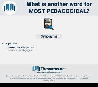 most pedagogical, synonym most pedagogical, another word for most pedagogical, words like most pedagogical, thesaurus most pedagogical