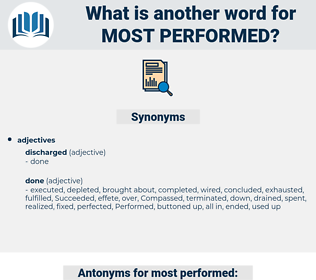 most performed, synonym most performed, another word for most performed, words like most performed, thesaurus most performed