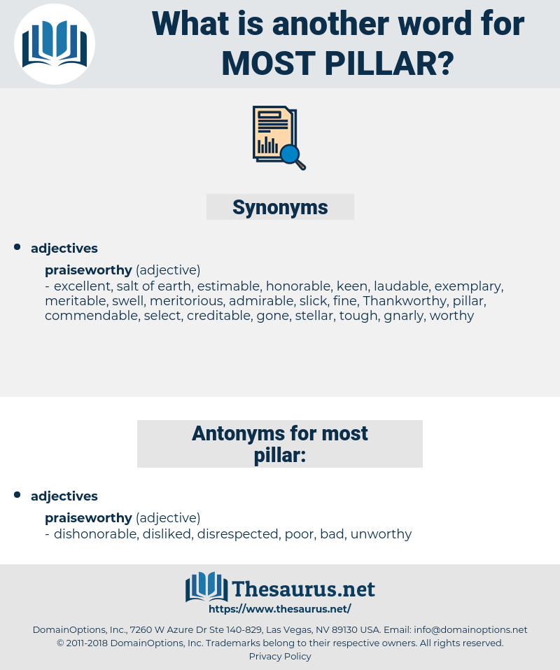 most pillar, synonym most pillar, another word for most pillar, words like most pillar, thesaurus most pillar