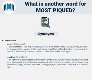 most piqued, synonym most piqued, another word for most piqued, words like most piqued, thesaurus most piqued