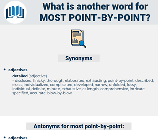 most point by point, synonym most point by point, another word for most point by point, words like most point by point, thesaurus most point by point
