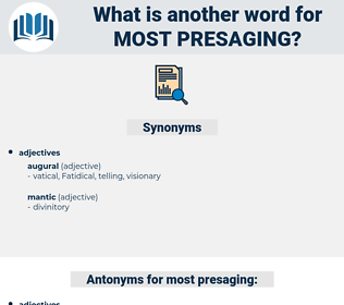 most presaging, synonym most presaging, another word for most presaging, words like most presaging, thesaurus most presaging