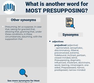 most presupposing, synonym most presupposing, another word for most presupposing, words like most presupposing, thesaurus most presupposing