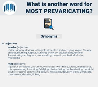 most prevaricating, synonym most prevaricating, another word for most prevaricating, words like most prevaricating, thesaurus most prevaricating