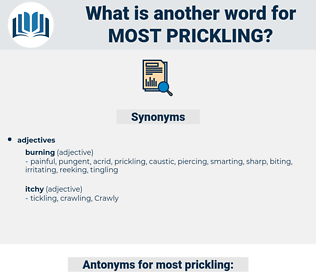 most prickling, synonym most prickling, another word for most prickling, words like most prickling, thesaurus most prickling
