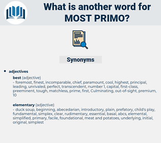 most primo, synonym most primo, another word for most primo, words like most primo, thesaurus most primo