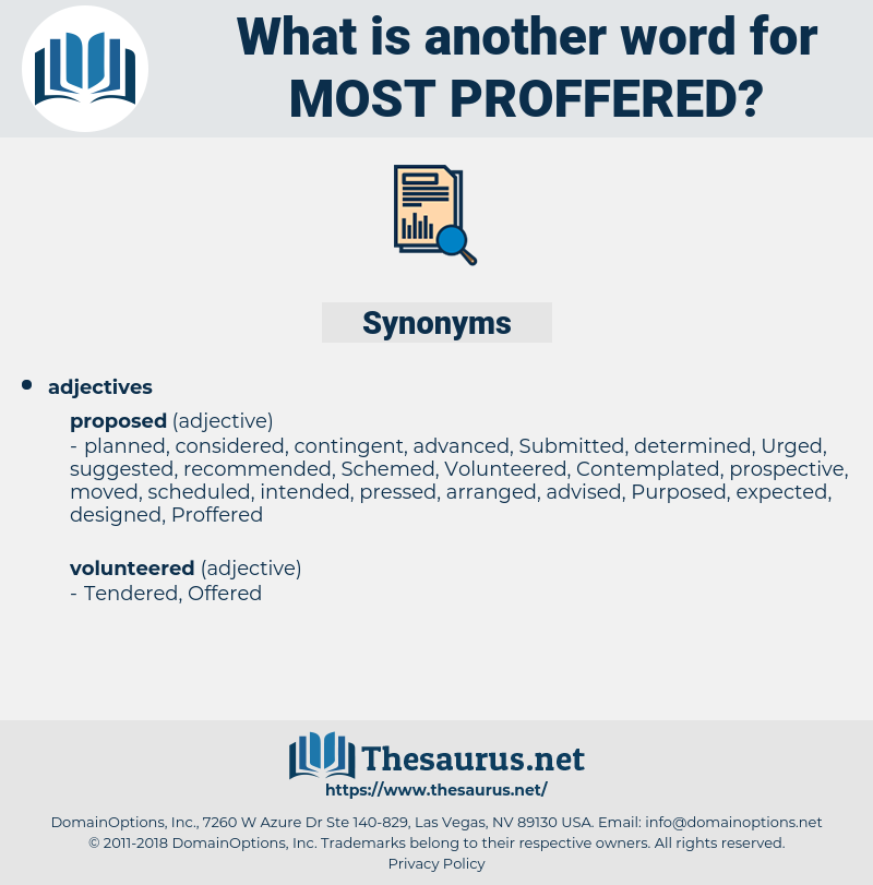 most proffered, synonym most proffered, another word for most proffered, words like most proffered, thesaurus most proffered