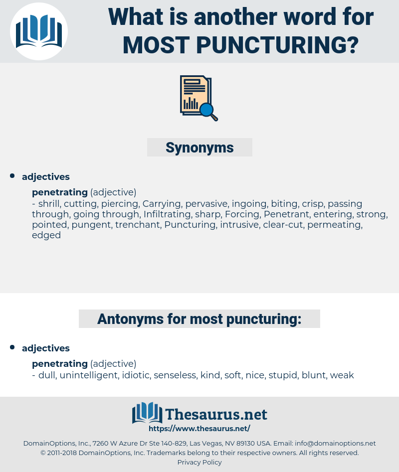 most puncturing, synonym most puncturing, another word for most puncturing, words like most puncturing, thesaurus most puncturing