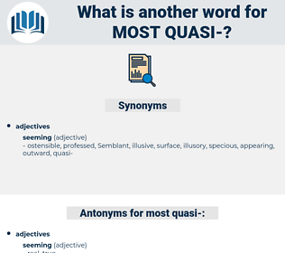 most quasi-, synonym most quasi-, another word for most quasi-, words like most quasi-, thesaurus most quasi-