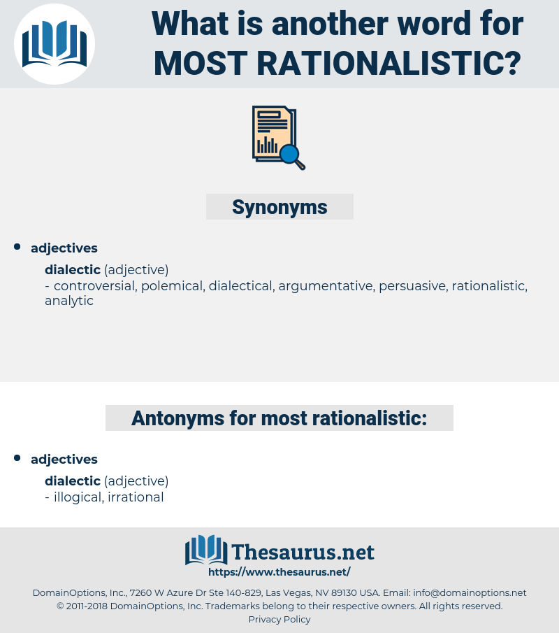 most rationalistic, synonym most rationalistic, another word for most rationalistic, words like most rationalistic, thesaurus most rationalistic