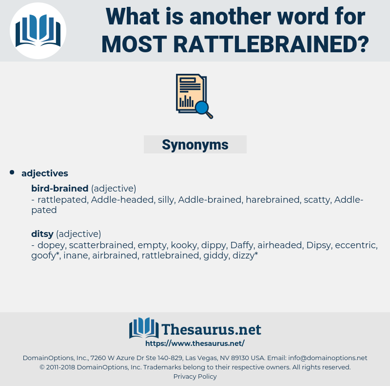 most rattlebrained, synonym most rattlebrained, another word for most rattlebrained, words like most rattlebrained, thesaurus most rattlebrained