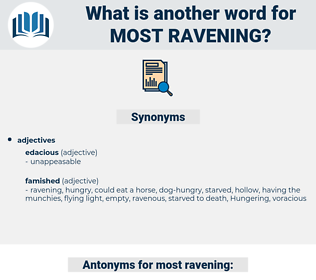 most ravening, synonym most ravening, another word for most ravening, words like most ravening, thesaurus most ravening
