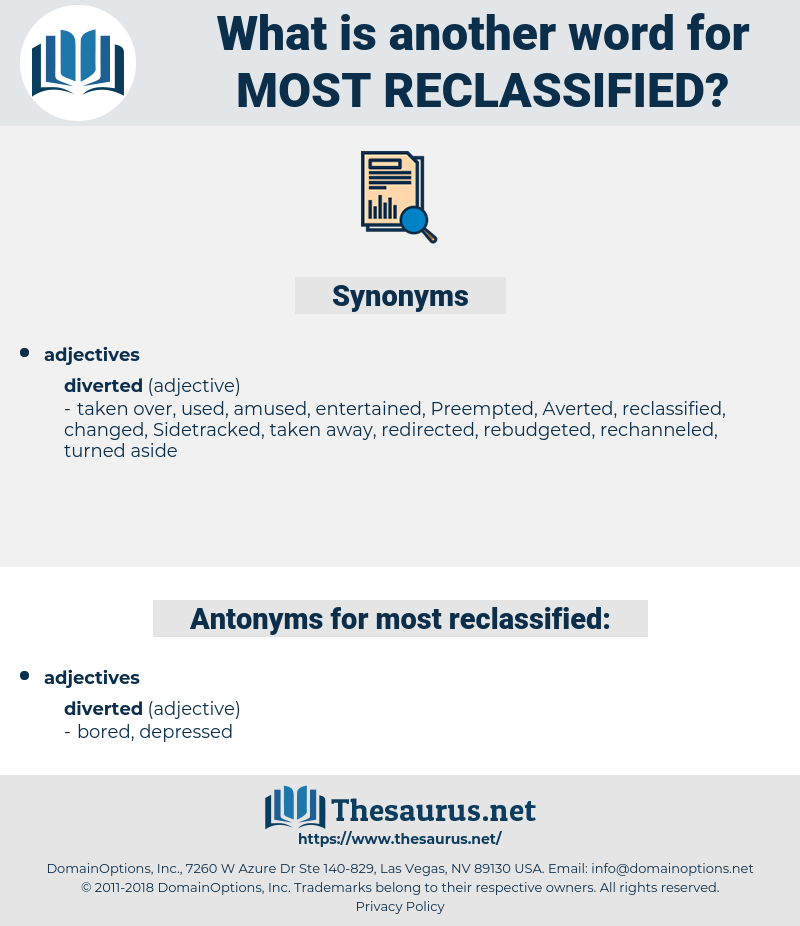 most reclassified, synonym most reclassified, another word for most reclassified, words like most reclassified, thesaurus most reclassified