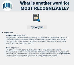 most recognizable, synonym most recognizable, another word for most recognizable, words like most recognizable, thesaurus most recognizable