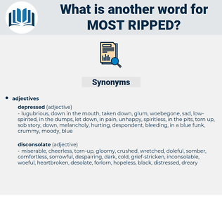 most ripped, synonym most ripped, another word for most ripped, words like most ripped, thesaurus most ripped