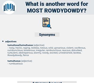 most rowdydowdy, synonym most rowdydowdy, another word for most rowdydowdy, words like most rowdydowdy, thesaurus most rowdydowdy