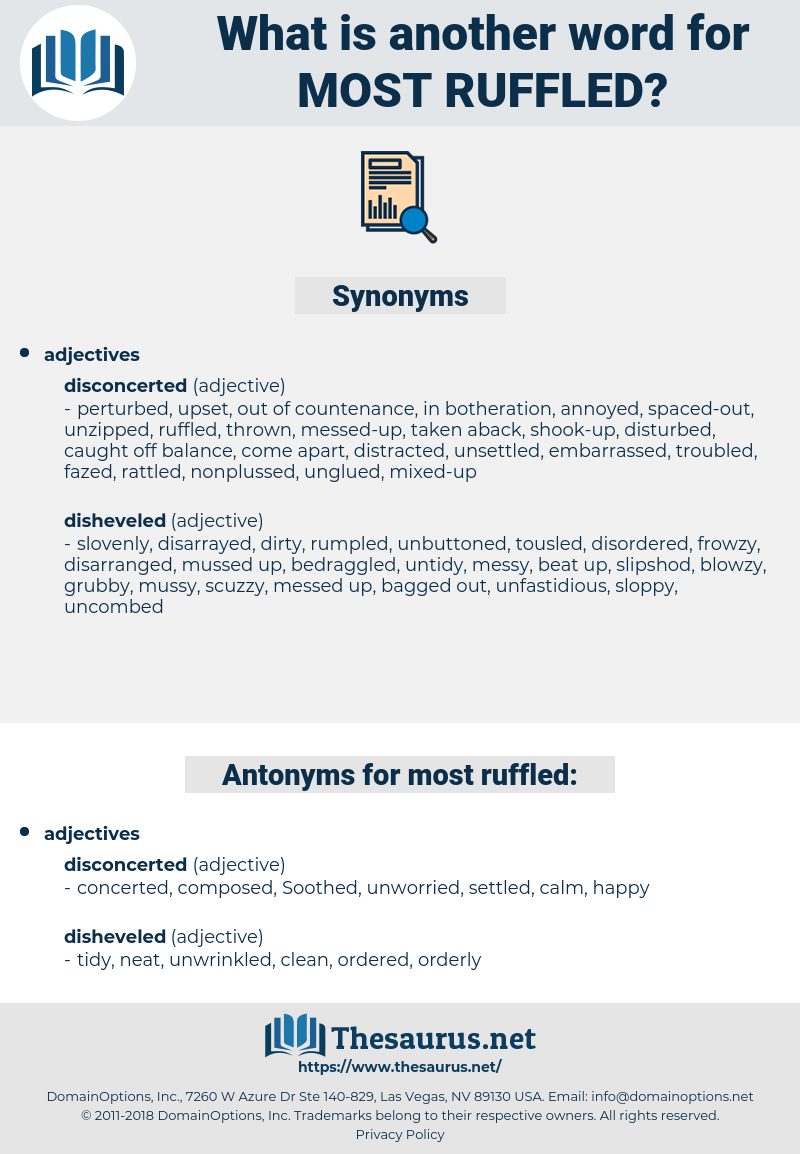 most ruffled, synonym most ruffled, another word for most ruffled, words like most ruffled, thesaurus most ruffled