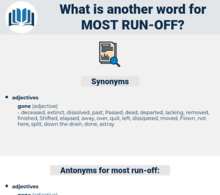 most run off, synonym most run off, another word for most run off, words like most run off, thesaurus most run off